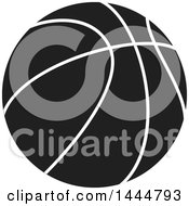 Poster, Art Print Of Black And White Basketball