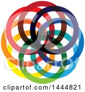 Colorful Abstract Rings Logo Design