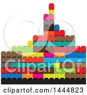 Clipart Of A City Made Of Blocks Royalty Free Vector Illustration by ColorMagic