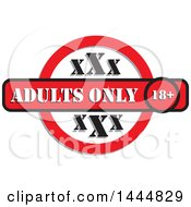 Red Black And White Adults Only XXX Design
