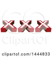 Clipart Of A XXX Design Royalty Free Vector Illustration