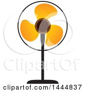 Clipart Of A Stand Fan Royalty Free Vector Illustration