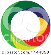 Clipart Of A Colorful Abstract Circle Royalty Free Vector Illustration