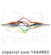 Clipart Of A Colorful Strings Or Lines Logo Design Royalty Free Vector Illustration