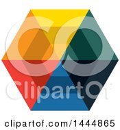 Colorful Hexagon Logo Design