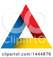 Clipart Of A Colorful Triangle Pyramid Logo Design Royalty Free Vector Illustration