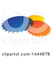 Design Of Blue Yellow And Orange Circles