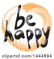 Stain Mark And Be Happy Text