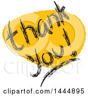 Yellow Mark And Thank You Text