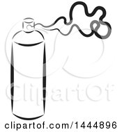 Clipart Of A Black And White Spray Can Royalty Free Vector Illustration