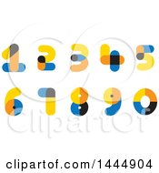 Clipart Of Colorful Numbers Royalty Free Vector Illustration