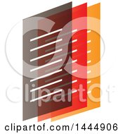 Clipart of Layered Gray, Red and Orange Documents - Royalty Free Vector Illustration by ColorMagic #COLLC1444906-0187