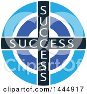 Clipart Of A Success Target Royalty Free Vector Illustration