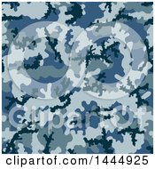 Clipart of a Blue Camouflage Pattern Background - Royalty Free Vector Illustration by Any Vector #COLLC1444925-0165