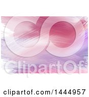 Clipart Of A Pink And Purple Watercolor Paint Strokes Background Or Business Card Design Royalty Free Vector Illustration