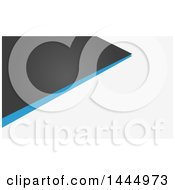 Clipart Of A Gray White And Blue Geometric Background Or Business Card Design Royalty Free Vector Illustration