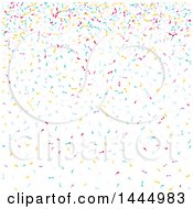 Party Background With Falling Colorful Confetti On White