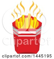 Clipart Of A Container Of French Fries Royalty Free Vector Illustration