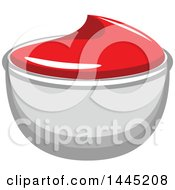 Clipart Of A Side Of Ketchup Royalty Free Vector Illustration