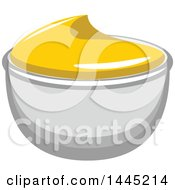 Clipart Of A Side Of Mustard Royalty Free Vector Illustration