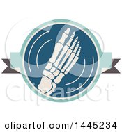 Clipart Of A Retro Flat Styled Foot Medical Design Royalty Free Vector Illustration by Vector Tradition SM