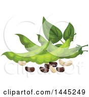Clipart Of A Design Of Beans And Pods Royalty Free Vector Illustration by Vector Tradition SM