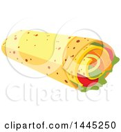 Clipart Of A Burrito Royalty Free Vector Illustration