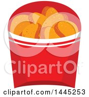 Clipart Of A Container Of Chicken Nuggets Royalty Free Vector Illustration by Vector Tradition SM