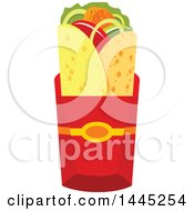 Clipart Of A Doner Kebab Or Gyro Royalty Free Vector Illustration