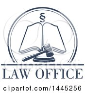 Clipart Of A Section Symbol In A Circle Over An Open Book And Gavel With Law Office Text Royalty Free Vector Illustration by Vector Tradition SM