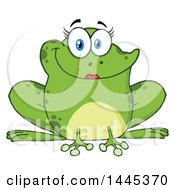 Clipart Of A Cartoon Female Frog Royalty Free Vector Illustration by Hit Toon