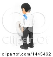 Clipart Of A 3d Business Man Peeing In A Urinal On A White Background Royalty Free Illustration