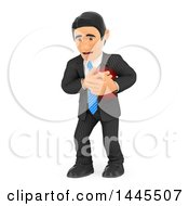 Clipart Of A 3d Business Man Suffering A Heart Attack On A White Background Royalty Free Illustration by Texelart