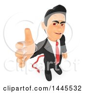 Clipart Of A 3d Devil Business Man Reaching Out To Shake Hands On A White Background Royalty Free Illustration