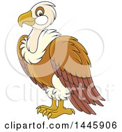 Clipart Of A Cartoon Vulture Bird Royalty Free Vector Illustration