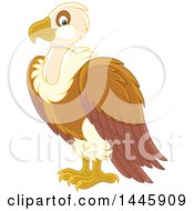 Clipart Of A Vulture Bird Royalty Free Vector Illustration by Alex Bannykh