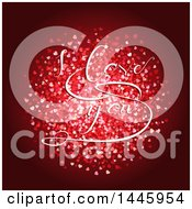 Poster, Art Print Of Circle Of Hearts With I Love You Text