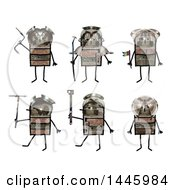 Clipart Of Soldier Robots On A White Background Royalty Free Illustration by NL shop
