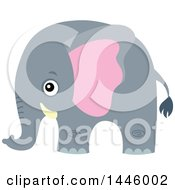 Clipart Of A Cute Gray Elephant Royalty Free Vector Illustration by visekart