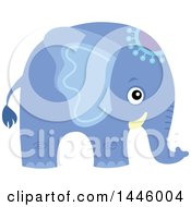 Clipart Of A Cute Blue Boy Elephant Royalty Free Vector Illustration