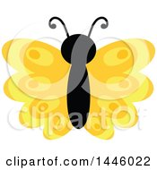 Clipart Of A Yellow Butterfly Royalty Free Vector Illustration
