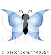 Clipart Of A Blue Butterfly Royalty Free Vector Illustration by visekart
