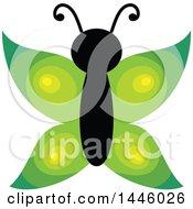 Poster, Art Print Of Green Butterfly
