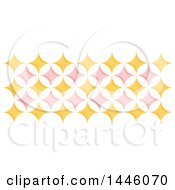 Clipart Of A Retro Yellow And Pink Geometric Star Pattern Royalty Free Vector Illustration