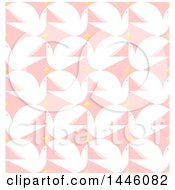 Clipart Of A Seamless Background Pattern Of White Peace Doves And Stars On Pink Royalty Free Vector Illustration