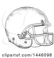 Clipart Of A Sketched Styled American Football Helmet Royalty Free Vector Illustration