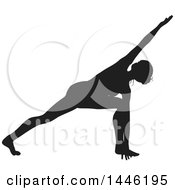 Black Silhouetted Woman In A Yoga Pose
