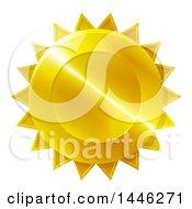 Shiny Gradient Golden Star Shaped Metal Award Badge