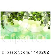 Background Of Green Bokeh Flares And Ivy