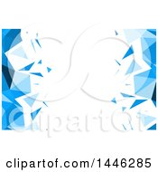 Background Or Business Card Design Of Blue And White Low Poly Geometric Sides